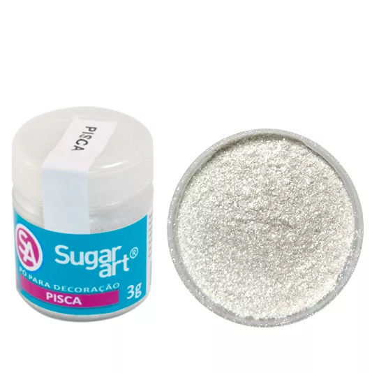 Pó Para Decoração Pisca 3g - Sugar Art