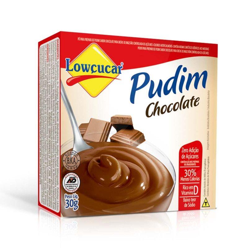 Pudim Sabor Chocolate Zero Açúcares 30g - Lowçucar