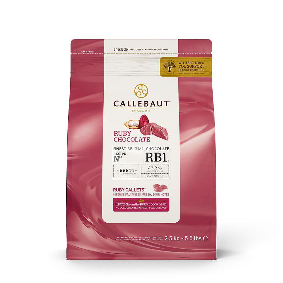 Ruby Chocolate RB1 47,3% Cacau Callebaut 2,5kg