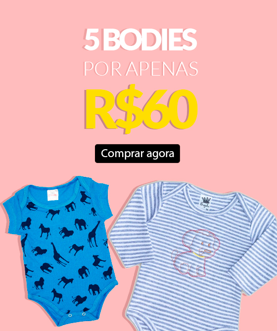 5 bodies por r$ 60