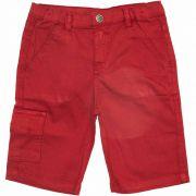 Bermuda de Sarja Infantil Masculino Quimby 27723 Vermelho