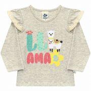 Blusa Infantil Feminina em Cotton - Ref 4939 - Mescla Banana