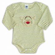 Body de Bebê Amarelo com Bordado Tiger - Sophy