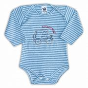 Body de Bebê Azul com Bordado Aventura - Sophy