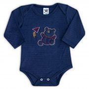 Body de Bebê Azul com Bordado Ursinho - Sophy