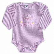 Body de Bebê Rosa com Bordado Birds - Sophy