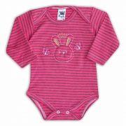 Body de Bebê Rosa com Bordado Bunny - Sophy
