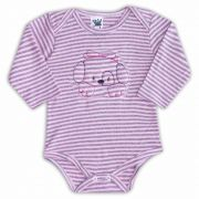 Body de Bebê Rosa com Bordado Puppy - Sophy