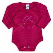 Body de Bebê Rosa com Bordado Urso Love - Sophy