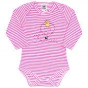 Body para Bebê Bordado Princess - Rosa - Sophy