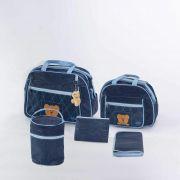 Bolsa Maternidade 5 peças Urso Marinho Strutz