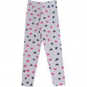 Calça Legging em Cotton com Estampa - Ref 032 - Mescla - Andritex