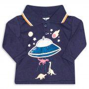 Camiseta Gola Polo Infantil Andritex 041 Marinho