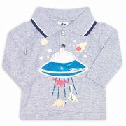 Camiseta Gola Polo Infantil Andritex 041 Mescla
