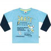 Camiseta Infantil em Malha  - Ref 4985 - Céu Azul
