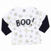 Camiseta Infantil Masculino Andritex 114 Malha Branco