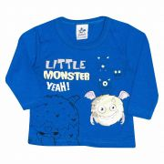 Camiseta Infantil Masculino Andritex 115 Malha Azul