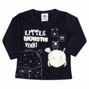 Camiseta Infantil Masculino Andritex 115 Malha Preto