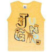 Camiseta Infantil Masculino - Ref 4743  - Amarelo - Andritex