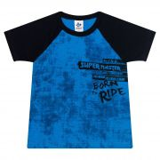 Camiseta Infantil Masculino - Ref 4787  - Azul - Andritex