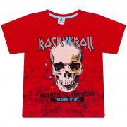 Camiseta Infantil Masculino - Ref 4788  - Vermelho - Andritex