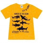 Camiseta Infantil Masculino - Ref 4918 - Amarelo - Andritex