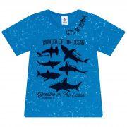 Camiseta Infantil Masculino - Ref 4918 - Azul - Andritex