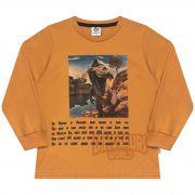 Camiseta Infantil Masculino  - Ref 5030 - Amêndoa