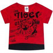Camiseta Infantil Masculino Tiger - Ref 4867 - Vermelho - Andritex