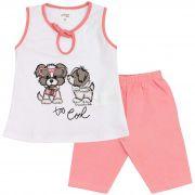 Conjunto Infantil Feminino Fashion Kids Love Vermelho