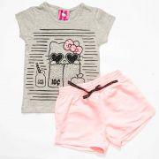 Conjunto Infantil Feminino Hello Kitty 87971 Mescla