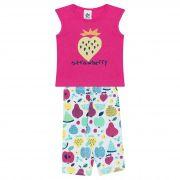 Conjunto Infantil Feminino Morango - Ref 4682 - Rosa - Andritex