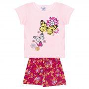 Conjunto Infantil Feminino - Ref 1003 - Rosa/Pink - Pitico