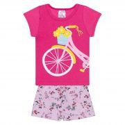 Conjunto Infantil Feminino - Ref 1020 - Rosa - Pitico