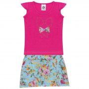 Conjunto Infantil Feminino - Ref 4709  - Rosa - Andritex