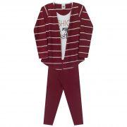 Conjunto Infantil Feminino  - Ref 4998 - Ameixa