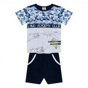 Conjunto Infantil Masculino Academy - Ref 4854 - Branco/Marinho - Andritex
