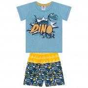 Conjunto Infantil Masculino Dino - Ref 4859 - Azul - Andritex