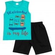 Conjunto Infantil Masculino Fashion Kids Board Azul
