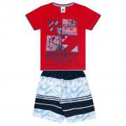 Conjunto Infantil Masculino - Ref 4733  - Vermelho - Andritex