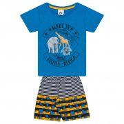 Conjunto Infantil Masculino - Ref 4734  - Azul - Andritex