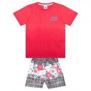 Conjunto Infantil Masculino - Ref 4779  - Vermelho - Andritex