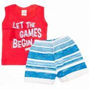 Conjunto Infantil Masculino The Game Brandilli Vermelho