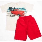Conjunto Infantil Masculino Urban Life Brandili Mescla e Vermelho
