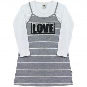Conjunto Vestido e Blusa - Ref 5003 - Mescla