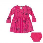 Conjunto Vestido Infantil Elian e Calcinha em Cotton - Ref 21860 - Pink