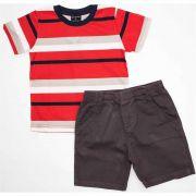 Conjuto Infantil Masculino Quimby 21048 Vermelho