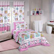Jogo de Cama Infantil Princess Power 3 peças - Disney - Santista