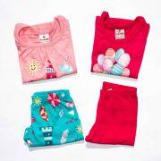 Kit 2 Conjuntos Infantil Feminino Brandili Tamanho G