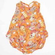Macaquinho Infantil Feminino Hello Kitty 87387 Laranja